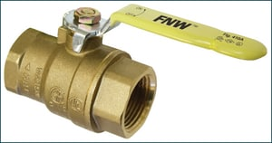 FNW® Figure 410A 1/2 in. Full Port 600 WOG Brass Ball Valve with Threaded NPT ends FNW410AD
