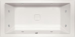 Hydro Systems Versailles 72 x 36 in. Combo Drop-In Bathtub with Center Drain in White HVER7236ACOWHI