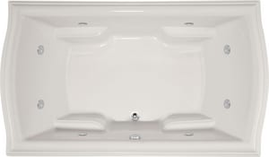 Hydro Systems Debra 72 x 42 in. Combo Drop-In Bathtub with Center Drain and with Side Drain in Bone HDEB7242ACOBON