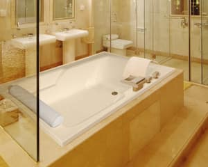 Hydro Systems Duo 72 x 48 in. Soaker Drop-In Bathtub with End Drain in Bone HDUO7248ATOBON