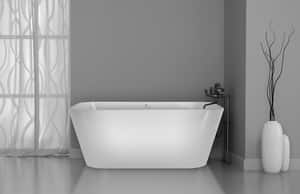 Hydro Systems Makyla 75 x 48 in. Whirlpool Drop-In Bathtub with Center Drain in White HMAK7548ACOWHI