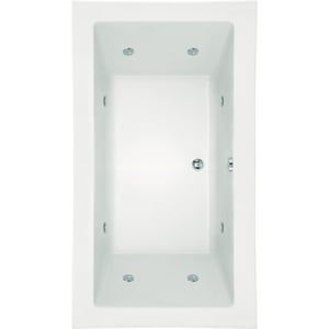Hydro Systems Kayla 74 x 42 in. Whirlpool Drop-In Bathtub with Center Drain in White HKAY7442ATAWHI