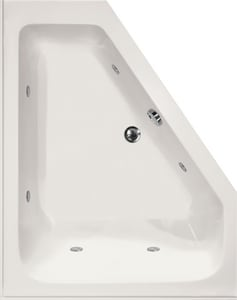 Hydro Systems Courtney 60 X 48 In Corner Whirlpool Bathtub With