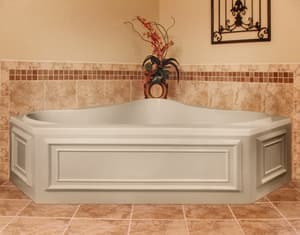 Hydro Systems Monterey 60 x 42 in. Whirlpool Drop-In Bathtub with Center Drain in White HMON6042ACOWHI