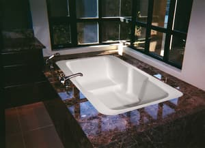 Hydro Systems Lacey™ 72 x 36 in. Drop-In Bathtub with End Drain in Biscuit HLAC7236ATOBIS