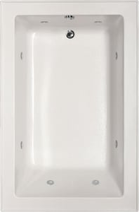 Hydro Systems Emma 66 x 42 in. Whirlpool Drop-In Bathtub with End Drain in White HEMM6642ACOWHI