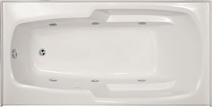 Hydro Systems Entree 60 x 32 in. Combo Drop-In Bathtub with End Drain in Bone HENT6032GCOBONLH