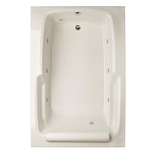 Hydro Systems Duo 60 x 48 in. Whirlpool Drop-In Bathtub with End Drain in Bone HDUO6048AWPBON