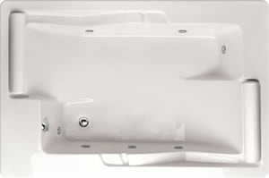 Hydro Systems Ashley 72 x 48 in. Rectangle Whirlpool Bathtub with Combo System and Corner Drain in White HASH7248ACOWHI