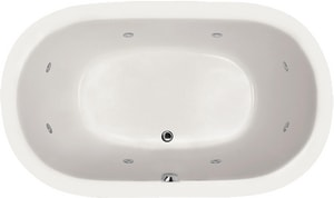 Hydro Systems Liliana 66 x 42 in. Whirlpool Drop-In Bathtub with Center Drain in White HLIL6642AWPWHI