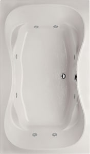 Hydro Systems Studio 72 x 42 in. Whirlpool Drop-In Bathtub with Center Drain in White HSHG7242AWPWHI