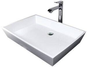 Hydro Systems Universal 1-Bowl Solid Surface Rectangular Lavatory Sink HPRI3915SSS
