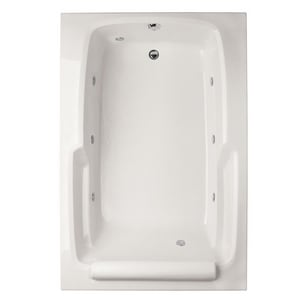 Hydro Systems Duo 60 x 48 in. Whirlpool Drop-In Bathtub with End Drain in White HDUO6048AWPWHI