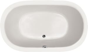 Hydro Systems Lorraine 60 x 42 in. Soaker Drop-In Bathtub with Center Drain in White HLOR6042ATOWHI