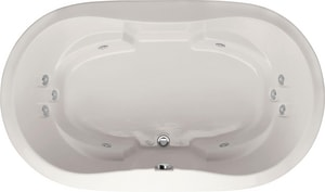 Hydro Systems Savannah 66 x 44 in. Whirlpool Drop-In Bathtub with Center Drain in Biscuit HSAV6644AWPBIS