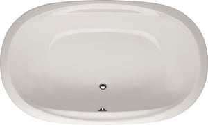 Hydro Systems Galaxie 66 x 38 in. Drop-In Bathtub with Center Drain in Biscuit HGAL6638ATOBIS