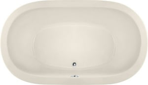 Hydro Systems Liliana 66 x 42 in. Oval Whirlpool Bathtub with Thermal Air System and Rear Center Drain in Biscuit HLIL6642ATABIS