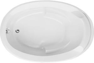 Hydro Systems Deanna 60 x 40 in. Combo Drop-In Bathtub with End Drain in White HDEA6040ATAWHI