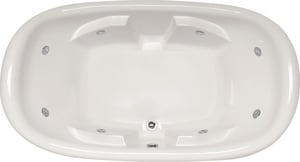 Hydro Systems Natalie 78 x 44 in. Whirlpool Drop-In Bathtub with Center Drain in Biscuit HNAT7844AWPBIS