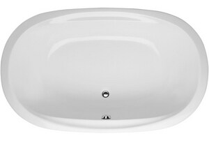 Hydro Systems Duo 74 x 44 in. Whirlpool Drop-In Bathtub with Center Drain in White HSDO7444AWPWHI