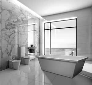 Hydro Systems Cheyenne 72 x 36 in. 80 gal Acrylic and Reinforced Fiberglass Rectangle Freestanding Bathtub with Center Drain in White HCHE7236ATOWHI