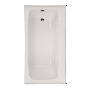 Hydro Systems Studio Regan Acrylic 3-Wall Alcove Rectangle Bathtub Only with Right Drain in White HREG6632ATOSWHIRH