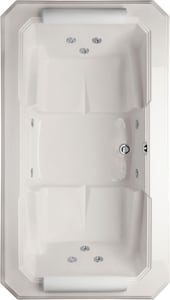 Hydro Systems Mystique™ 77-1/2 x 43-3/4 in. Rectangle Whirlpool Bathtub with Rear Center Drain in White HMYS7844AWPWHI