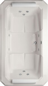 Hydro Systems Mystique™ 77-1/2 x 43-3/4 in. Whirlpool Drop-In Bathtub with Center Drain in White HMYS7844AWPWHI