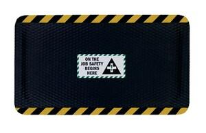 M+A Matting Hog Heaven™ 24 x 36 x 5/8 in. Anti-Fatigue Nitrile Mat in Black and Yellow A4230224X36