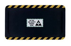 M+A Matting Hog Heaven™ 46 x 72 x 5/8 in. Anti-Fatigue Nitrile Mat in Black and Yellow A4230246X72