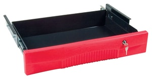 Rubbermaid Full Extension Drawer Kit for Rubbermaid 3442663 HD 2-Shelf Utility Cart Flat Shelf RFG459300RED