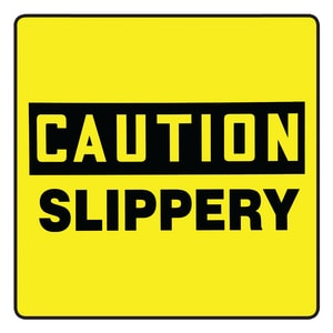 Accuform Signs 10 in. Label - Slippery APFC634 at Pollardwater