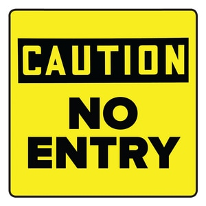 Accuform Signs 10 in. Label - No Entry - Restricted Area APFC640 at Pollardwater