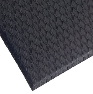 M+A Matting Cushion Max™ 144 x 5/8 in. Anti-Fatigue Mat in Black (Less Hole) A41433144 at Pollardwater