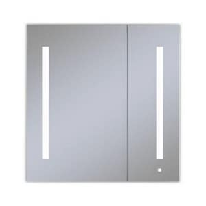 Robern AiO® 30 x 30 x 4-5/8 in. Plain Glass Double Door Mirror Medicine Cabinet with LED RAC3030D4P2LA