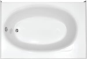 Hydro Systems Kona 60 x 42 in. Drop-In Bathtub with Left Drain in White HKON6018GTOWHILH