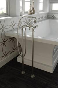 Moen Weymouth® Floor Mount Tub Filler Riser Leg in Polished Chrome MTS25105