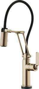 Brizo Litze™ Single Handle Pull Down Kitchen Faucet in Brilliance Luxe Gold D64244LFGL