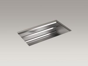 Kohler Prolific® 33 x 17-3/4 in. Stainless Steel Single Bowl Undermount Kitchen Sink K5540-NA