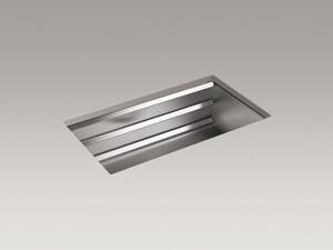 KOHLER Prolific® 33 x 17-3/4 in. No-Hole Single Bowl Undermount Kitchen Sink in Stainless Steel K5540-NA