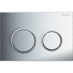 Geberit Omega20 Dual Flush Actuator Flush Plate in Polished Chrome with Matte Chrome G115085KH1