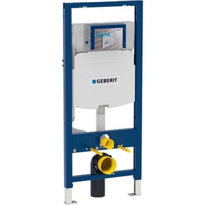 Geberit Manufacturing Sigma White;Blue Concealed Toilet Carrier System 1.6/0.8 GDF G111335005