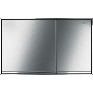 Geberit Sigma60 Dual Flush Actuator Flush Plate in Brushed chrome G115640GH1