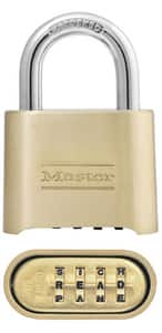 Master Lock Brass|Steel Combination Padlock MAS175