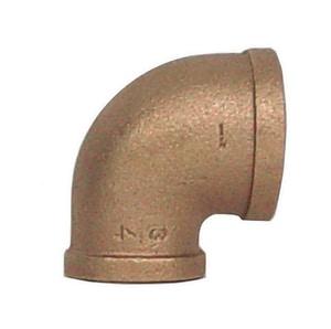 Legend Valve & Fitting 1-1/2 x 1 in. Threaded Bronze 90 Degree Elbow L3103NL