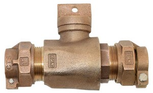 Legend Valve & Fitting T-5300NL 2 in. CTS Pack Joint Brass Curb Stop L314218NL