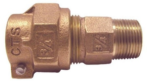 Legend Valve & Fitting 1-1/4 in. Compression x MIPT Bronze Compression Coupling L313206NL