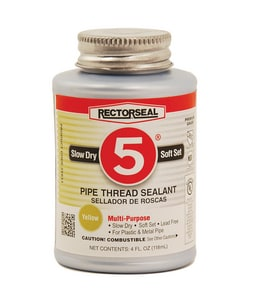 Rectorseal No. 5® 4 oz PVC Yellow Pipe Joint Compound REC25631 at Pollardwater
