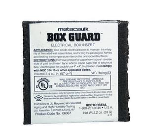 Rectorseal Metacaulk® Box Guard™ 8 x 4 x 8 in. Double Box Fire Rated Insert REC66367