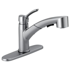 Delta Faucet Collins™ 10-3/8 in. 1.8 gpm 1 or 3-Hole Kitchen Sink Faucet with Single Lever Handle in Arctic Stainless D4140ARDST